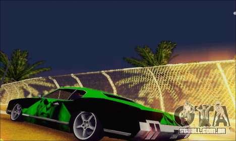 Modified Sabre Low para GTA San Andreas traseira esquerda vista
