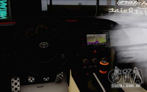 Toyota GT86 Lowstance para GTA San Andreas vista direita