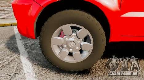 Toyota Hilux FDNY v2 [ELS] para GTA 4 vista de volta