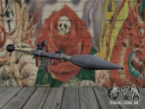 Lançador de míssil de um Stalker para GTA San Andreas