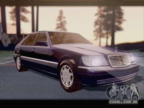 Mercedes-Benz S600 V12 V1.2 para vista lateral GTA San Andreas