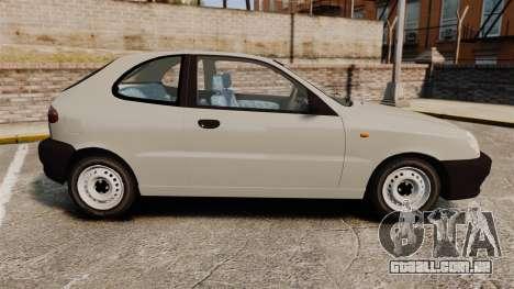 Daewoo Lanos S PL 1997 para GTA 4 esquerda vista