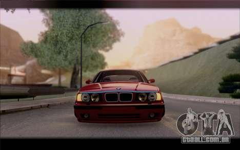 BMW E34 para GTA San Andreas vista interior