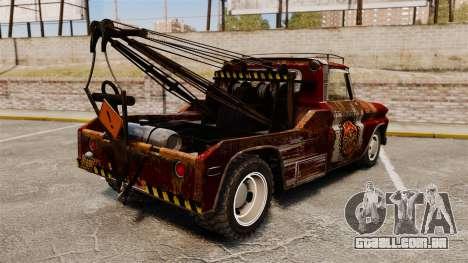 Chevrolet Tow truck rusty Rat rod para GTA 4 traseira esquerda vista
