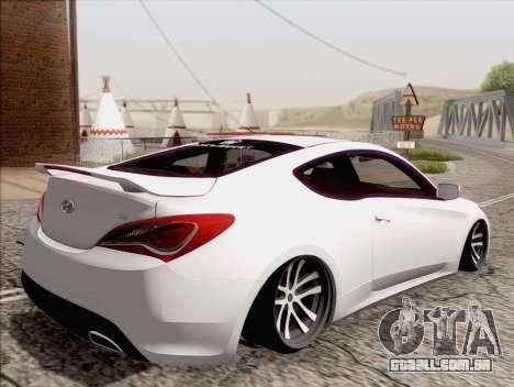 Hyundai Genesis Stance para GTA San Andreas esquerda vista