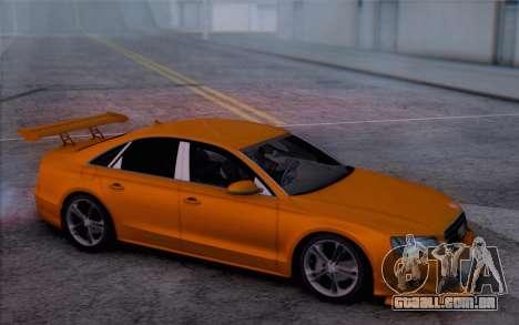 Audi A8 2010 para GTA San Andreas vista direita