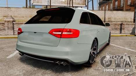 Audi RS4 Avant para GTA 4 traseira esquerda vista
