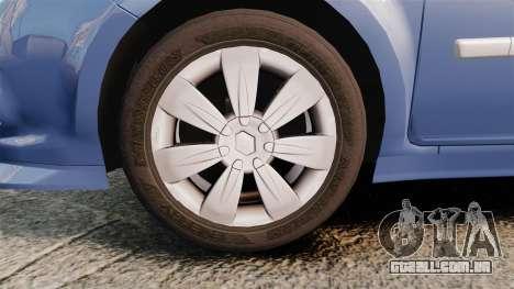 Renault Clio III Phase 2 para GTA 4 vista de volta