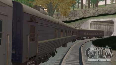 Carro de passageiro para GTA San Andreas vista direita