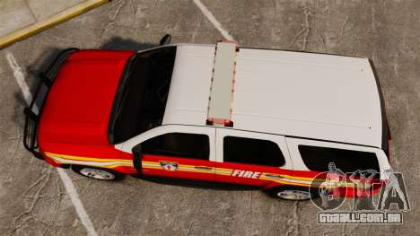 Chevrolet Tahoe Fire Chief v1.4 [ELS] para GTA 4 vista direita