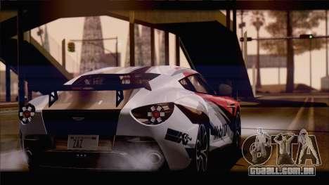 Aston Martin V12 Zagato 2012 [HQLM] para GTA San Andreas esquerda vista