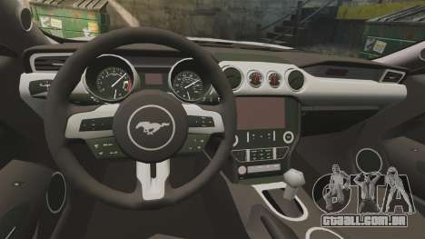 Ford Mustang GT 2015 Sticker Bombed para GTA 4 vista direita