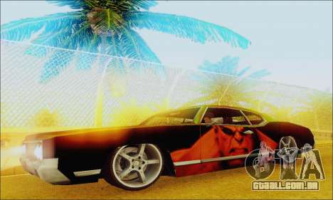 Modified Sabre Low para GTA San Andreas esquerda vista