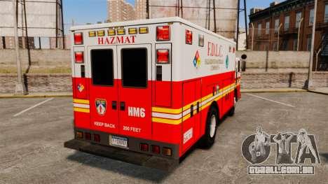 Hazmat Truck FDLC [ELS] para GTA 4 traseira esquerda vista