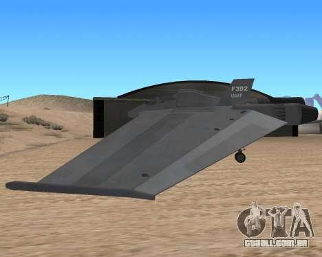 StarGate F-302 para GTA San Andreas vista traseira