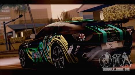 Aston Martin V12 Zagato 2012 [HQLM] para GTA San Andreas vista traseira