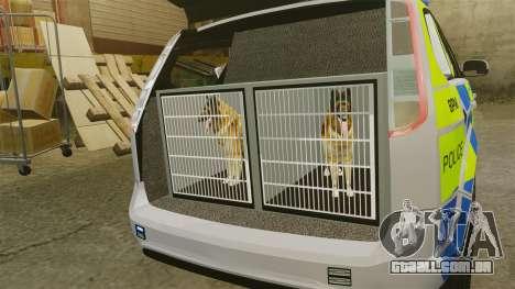Ford Focus Estate Metropolitan Police [ELS] para GTA 4 vista de volta