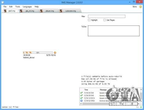 IMG Manager 2.0 para GTA San Andreas por diante tela