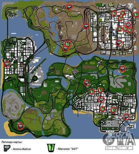 Dois relacionados ao Interior mudar para GTA San Andreas sétima tela