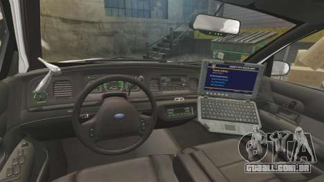 Ford Crown Victoria 1999 Unmarked Police para GTA 4 vista de volta