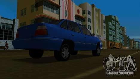 Daewoo Cielo para GTA Vice City vista traseira esquerda
