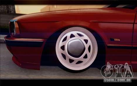 BMW E34 para GTA San Andreas traseira esquerda vista