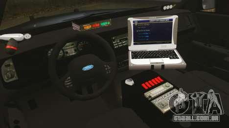 Ford Crown Victoria Stealth [ELS] para GTA 4 vista de volta