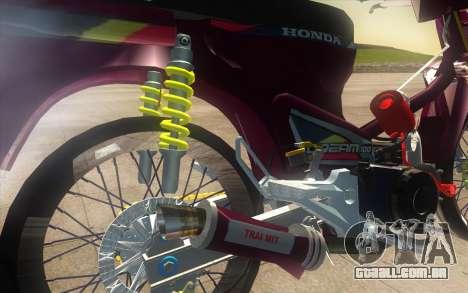 Honda Dream 100 VietNam para GTA San Andreas vista traseira