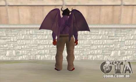 Devil Kazuya Mishima para GTA San Andreas segunda tela