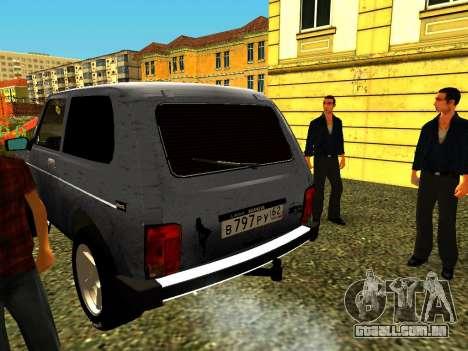 VAZ 21214 para GTA San Andreas traseira esquerda vista