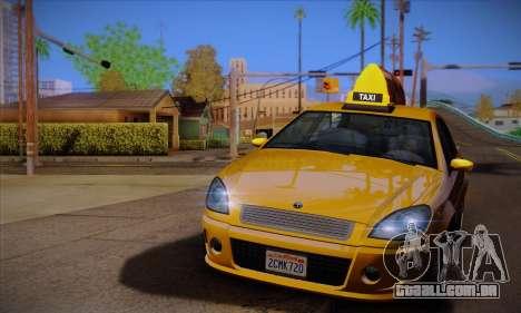 Declasse Premier Taxi para GTA San Andreas esquerda vista
