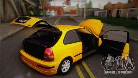 Honda Civic 1.4is TMC para vista lateral GTA San Andreas