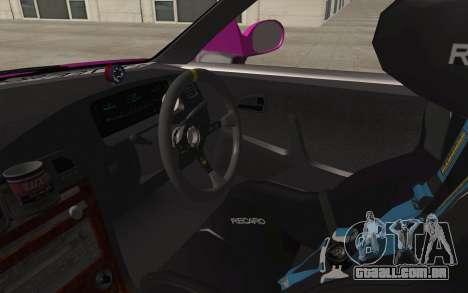 Toyota Mark 2 para GTA San Andreas vista interior
