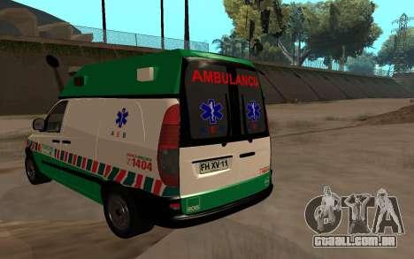 Mercedes-Benz Vito Ambulancia ACHS 2012 para GTA San Andreas esquerda vista