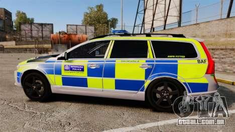 Volvo V70 Metropolitan Police [ELS] para GTA 4 esquerda vista