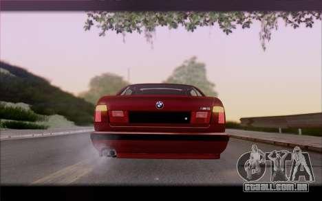 BMW E34 para vista lateral GTA San Andreas
