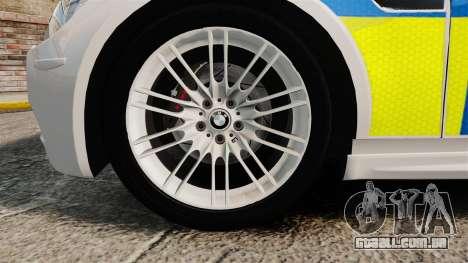 BMW M3 British Police [ELS] para GTA 4 vista de volta