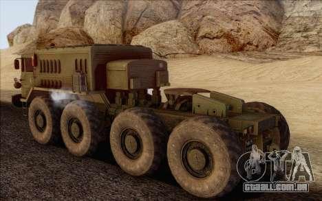 MAZ 535 para GTA San Andreas esquerda vista