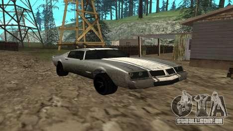 Phoenix de GTA V para GTA San Andreas traseira esquerda vista
