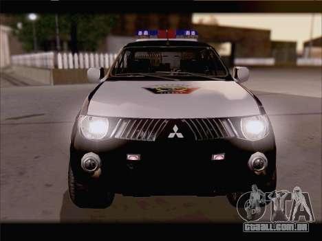 Mitsubishi L200 POLICIA para GTA San Andreas vista direita