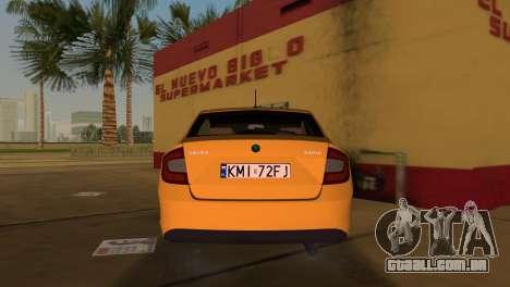 Skoda Rapid 2013 para GTA Vice City vista traseira esquerda