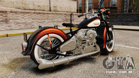 Harley-Davidson Knucklehead 1947 para GTA 4 esquerda vista
