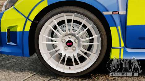 Subaru Impreza WRX STI 2011 Police [ELS] para GTA 4 vista de volta