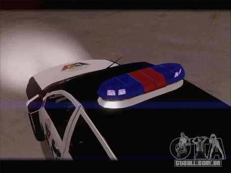 Mitsubishi L200 POLICIA para vista lateral GTA San Andreas