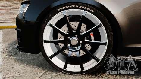 Audi S4 Unmarked Police [ELS] para GTA 4 vista de volta