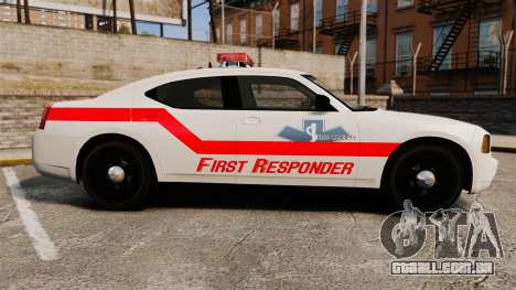 Dodge Charger First Responder [ELS] para GTA 4 esquerda vista