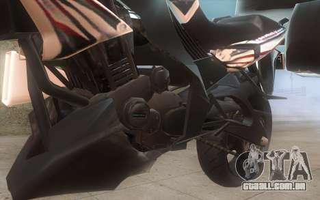 Yamaha V-ixion 150cc 2012 Touring Edition para GTA San Andreas traseira esquerda vista
