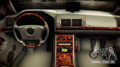 Mercedes-Benz S600 V12 V1.2 para GTA San Andreas traseira esquerda vista