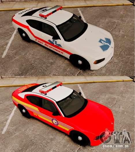 Dodge Charger First Responder [ELS] para GTA 4 vista de volta