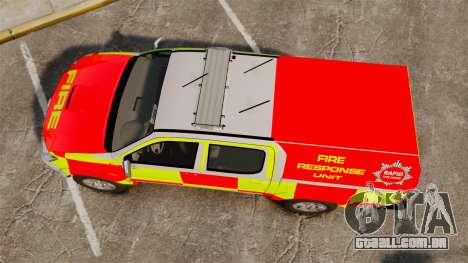 Toyota Hilux British Rapid Fire Cover [ELS] para GTA 4 vista direita